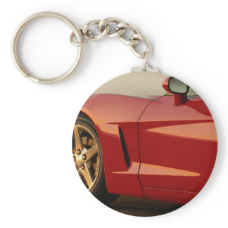 My Red Corvette Keychain
