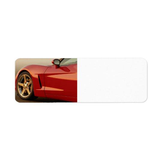 My Red Corvette Label