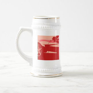 My Red Corvette 18 Oz Beer Stein