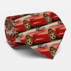 My Red Corvette Neck Tie