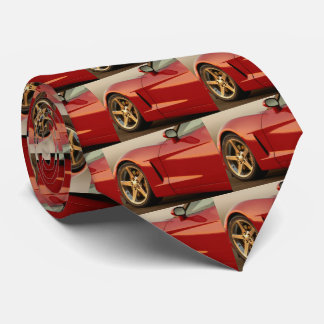 My Red Corvette Neck Tie