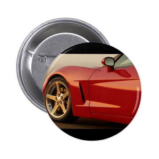 My Red Corvette Pin