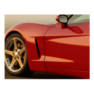 My Red Corvette Postcard