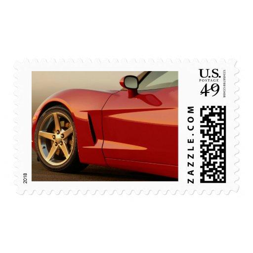 My Red Corvette Stamp