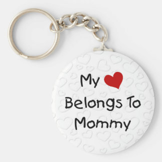 My Red Heart Belongs to Mommy Key Chains