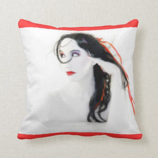 My Red Melancholy Throw Pillow