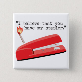 My Red Stapler Pinback Button