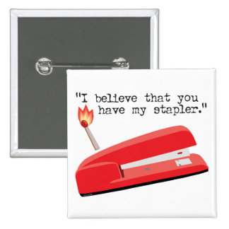 My Red Stapler Pinback Button
