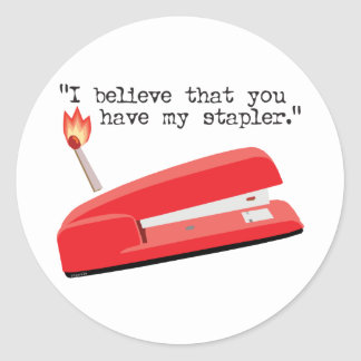 My Red Stapler Stickers
