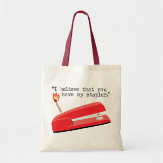 My Red Stapler Tote Bag
