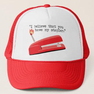My Red Stapler Trucker Hat