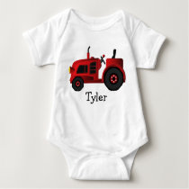 My Red Tractor Too Baby Bodysuit