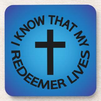 My Redeemer Lives Coaster