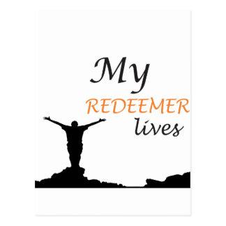 My redeemer lives postcard