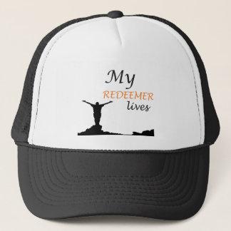 My redeemer lives trucker hat