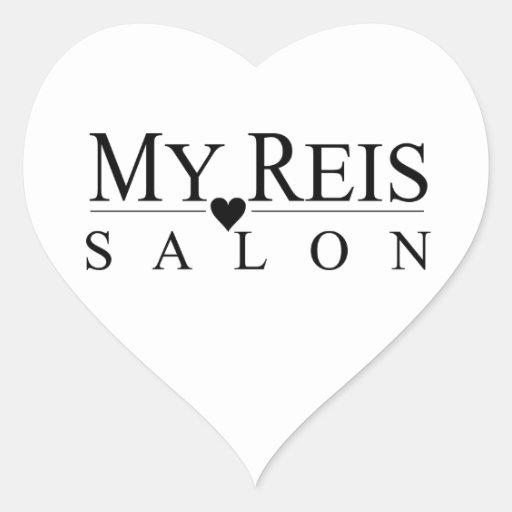 My reis salon heart sticker zazzle for Stickers salon
