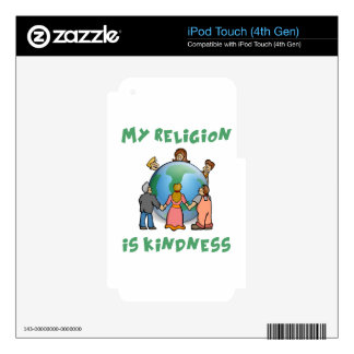 My Religion is Kindness Decal For iPod Touch 4G