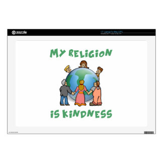 """My Religion is Kindness Decals For 17"""" Laptops"""