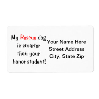 My Rescue Dog is Smarter Than Your Honor Student Label
