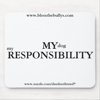 My Responsibility Mousepad