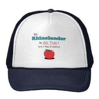 My Rhinelander is All That Funny Horse Mesh Hat