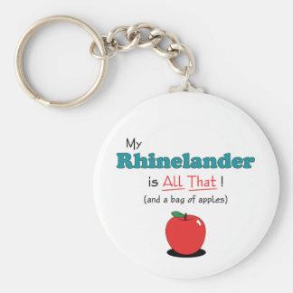 My Rhinelander is All That! Funny Horse Basic Round Button Keychain