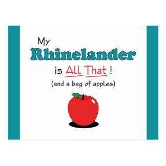 My Rhinelander is All That! Funny Horse Postcard