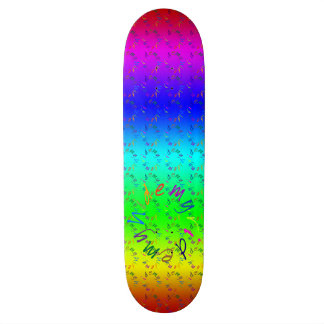 My Ride My Hide - funny nonsense text Skateboard Deck