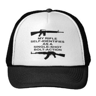 My Rifle Self Identifies As A Single Shot Bolt Act Trucker Hat