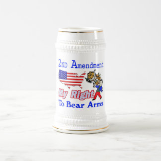 My Right To Bear Arms Beer Stein