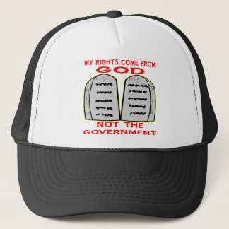 My Rights Come From God Not The Government Trucker Hat