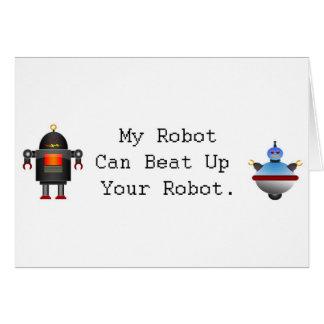 My Robot Can Beat Up Your Robot Card