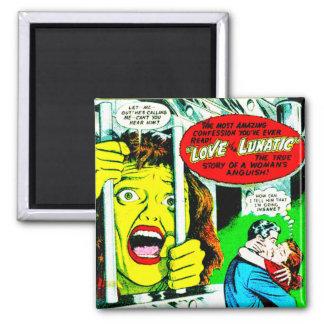 My Romantic Adventures 2 Inch Square Magnet