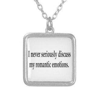 My Romantic Emotions Square Pendant Necklace