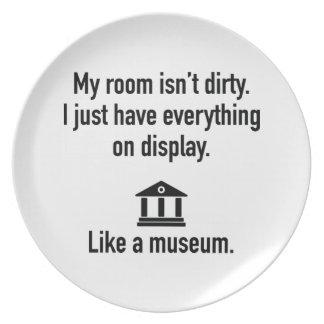 My Room Isn't Dirty Melamine Plate