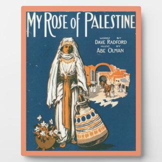 My Rose of Palestine plaque