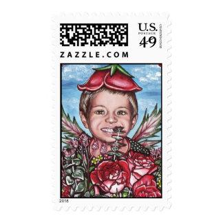 My Rosy Valentine Postage Stamp