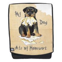 My Rottweiler Ate my Homework Backpack