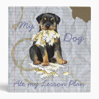 My Rottweiler Ate My Lesson Plan 3 Ring Binder