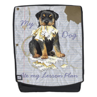 My Rottweiler Ate My Lesson Plan Backpack