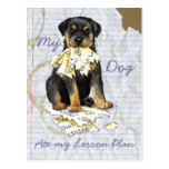 My Rottweiler Ate My Lesson Plan Post Card