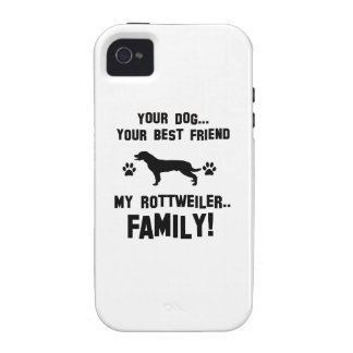 My rottweiler family, your dog just a best friend Case-Mate iPhone 4 covers