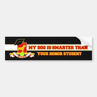 My Rottweiler Is Smarter Bumper Stickers