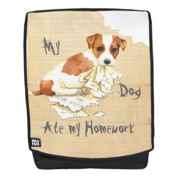 Beach Themed My Russell Terrier Ate my Homework Backpack