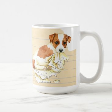 Beach Themed My Russell Terrier Ate My Homework Coffee Mug