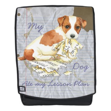 Beach Themed My Russell Terrier Ate My Lesson Plan Backpack