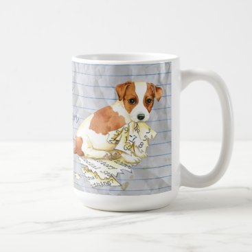 Beach Themed My Russell Terrier Ate My Lesson Plan Coffee Mug