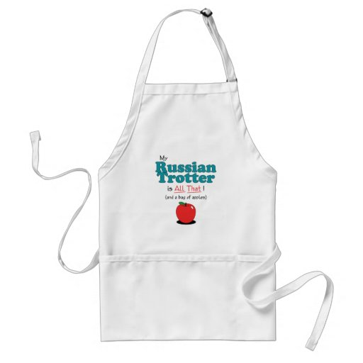 My Russian Trotter is All That! Funny Horse Adult Apron
