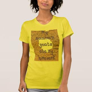 My Saanen Goats Ate My Homework T-shirt
