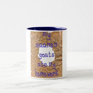 My Saanen Goats Ate My Homework Two-Tone Coffee Mug